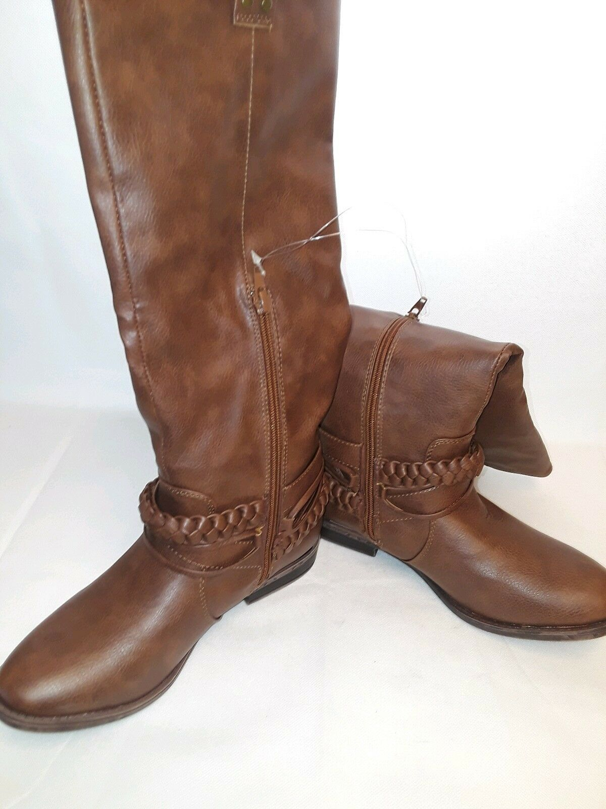 RAMPAGE WOMENS Size 7.5 M BROWN RIDING BOOTS IBSEN    348350