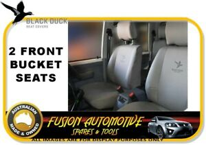 BLACK DUCK Canvas Seat Covers Front Bucket for Mazda BT50 12//06-07//11