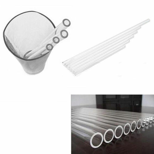10mm Supremery Glas-Strohhalme Trinkhalme mit bunten Spitzen 1er Transparent