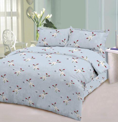 Floral Duvet Cover 100/% Cotton Soft Bedding Set Reversible Queen//King