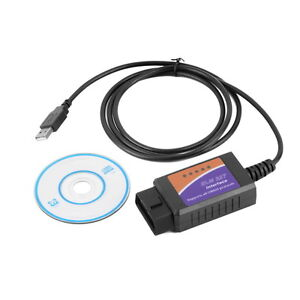 ELM327 USB OBD-II OBD 2 Interface Car Scanner Diagnostic Auto Scan Tool Cable BP