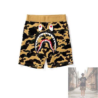 HOT Men/'s Camo Shark Jaw Shorts Sports Casual Beach Short Pants