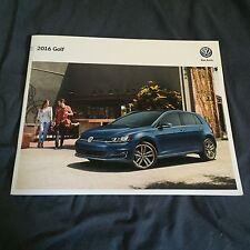 2016 VW Volkswagen Golf  USA Market  Brochure Catalog Prospekt