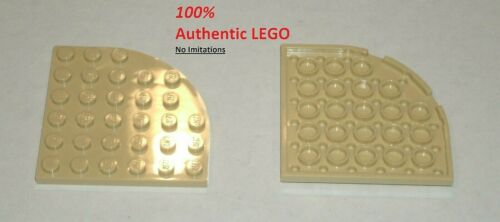 4280131 4288370 6056484 Brick 6003 2x LEGO NEW 6x6 Tan Plate Round Corner
