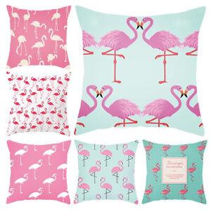 Am-BH-Funny-Flamingo-Soft-Throw-Pillow-Case-Cushion-Cover-Sofa-Bed-Car-Decor-W