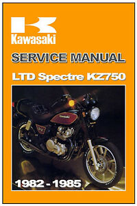 kawasaki workshop manual kz750 750 ltd and spectre shaft 1982 1983 rh ebay com 84 Kawasaki 750 LTD 1983 Kawasaki 750 LTD