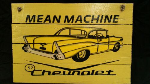 Decor Mean Machine Chevrolet Car Vintage Automotive Memorabilia Bar Sign 60cm