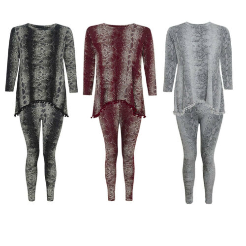 Kids girls children Snake print Pom Pom tracksuit loungewear Dress Suit 5 13Year