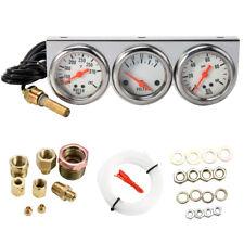 Universal 52mm Car 3 in 1 Water Temp Voltage Oil Pressure Gauge Triple Meter Kit