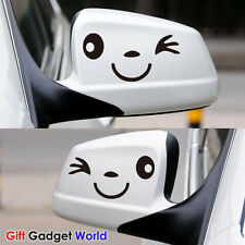Smile Face Car Wing Door Mirror Stickers Decal Gift Birthday Xmas 2013 New Golf