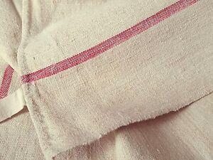 2-Torchon-ancien-chanvre-lin-bande-rouge-deco-cuisine-de-campagne-Ref-12308