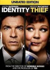 Identity Thief (DVD, Unrated Edition) JASON BATEMAN / McCARTHY READ DETAILS SHIP