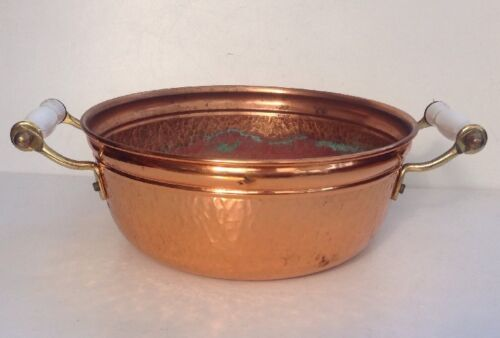 Vintage Copper Planter Ornamental Dish