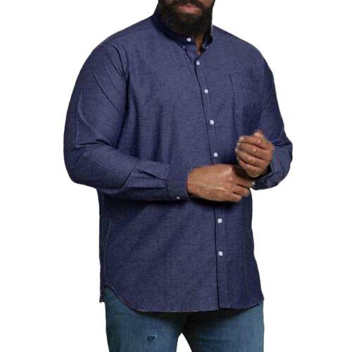 Duke D555 Herren Große Hoch King Größe Nebraska Langärmelig Stretch Kragen Hemd
