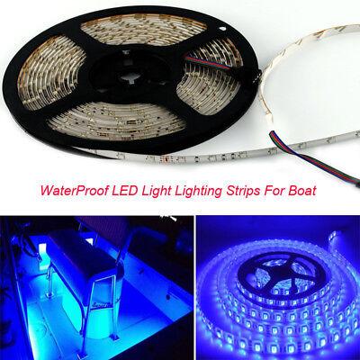 3pcs Boat Accent Light WaterProof Blue LED Lighting Strip 3528 300 LEDs 16ft