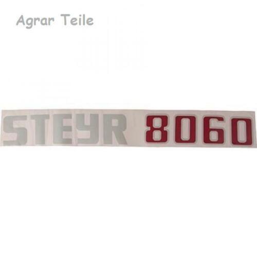 Aufkleber Steyr 8060 rechts Motorhaube