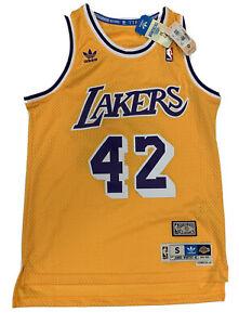 New James Worthy Mens Small Lakers Adidas Hardwood Swingman Yellow ...