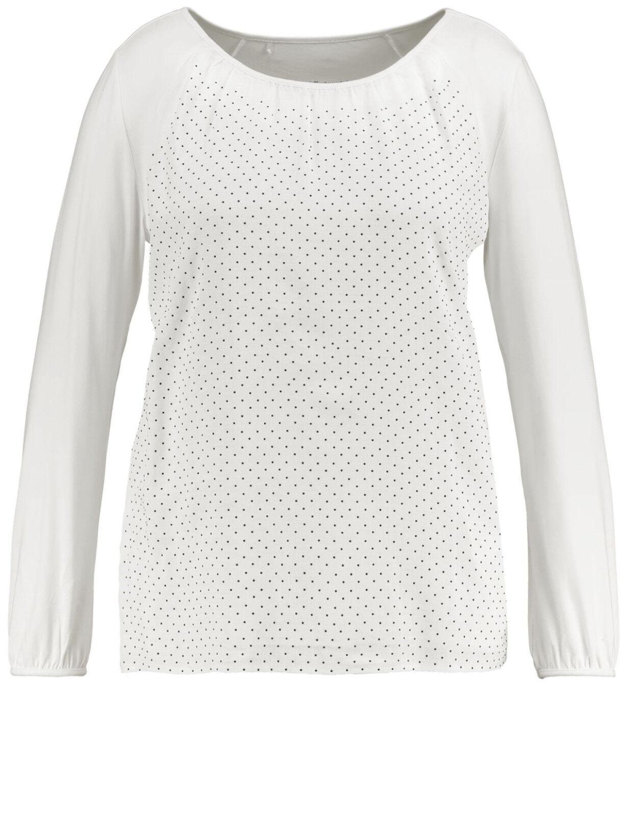 Samoon Shirt mit dekorativer Blausenfront by Gerry Weber Neu ged.weiß Damen Gr.52