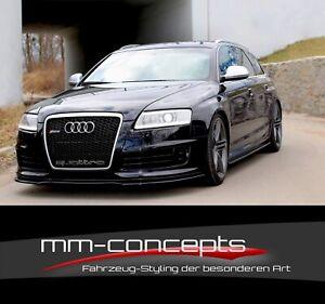 Cup-Spoilerlippe-CARBON-fuer-Audi-RS6-4F-C6-S6-A6-Frontspoiler-Spoilerschwert