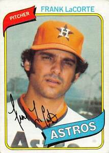 trading card Topps ASTROS 1980 FRANK LaCORTE  #411