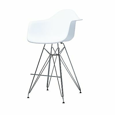 Surprising Dining Room Kitchen Counter Stool White Seat With Metal Legs 27 5 Seat Height Ebay Gmtry Best Dining Table And Chair Ideas Images Gmtryco