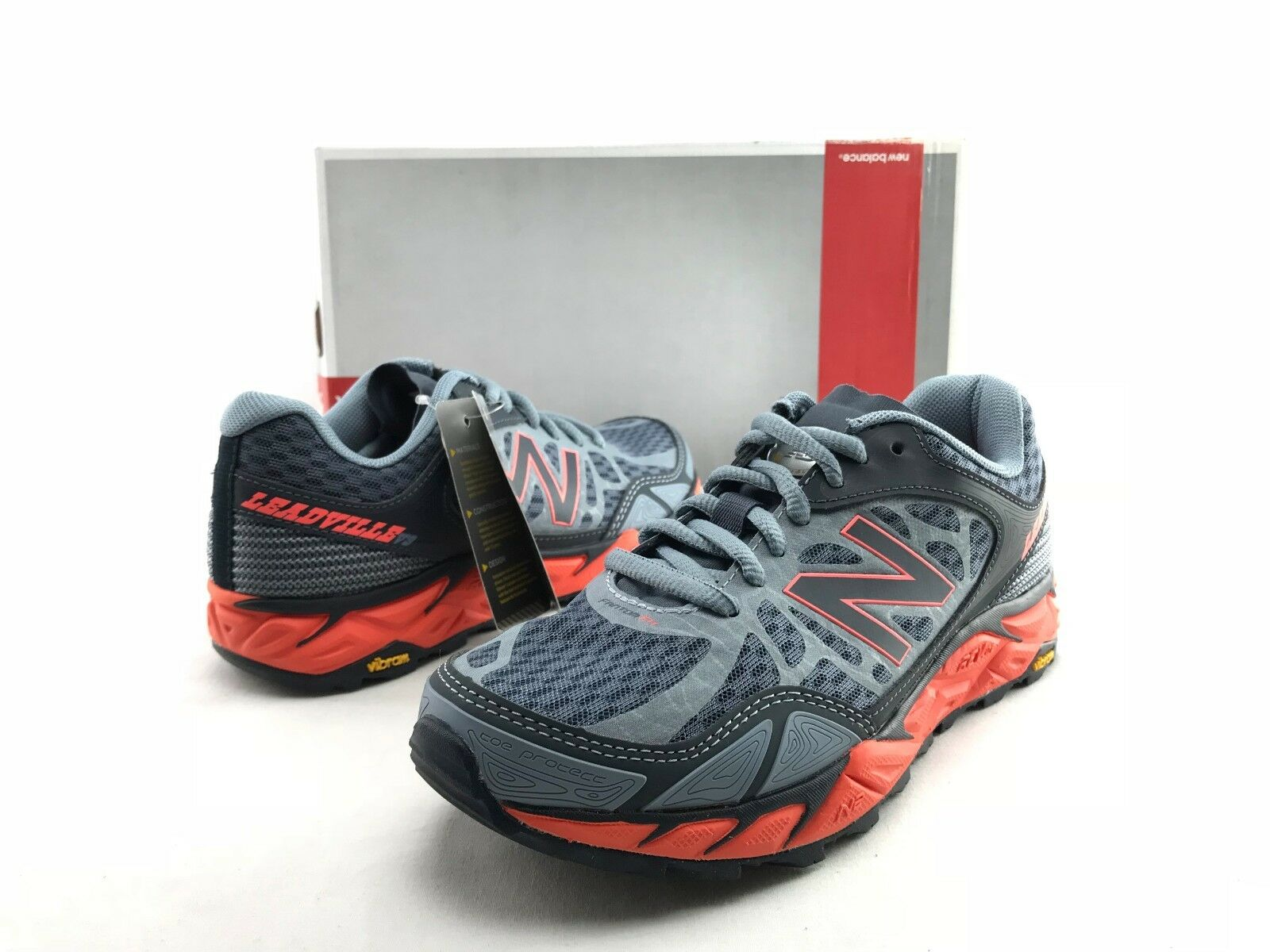 New Balance Leadville V9 Women's Grey Vibram Sole Running Sneakers US 5 B  B799