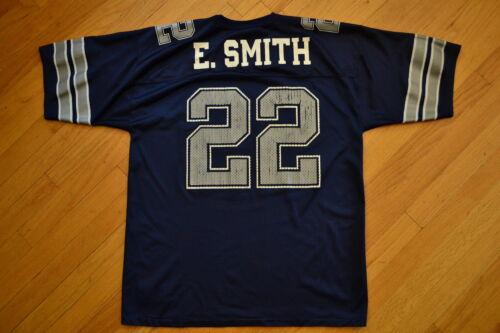 high-quality Vintage EMMITT SMITH 22 DALLAS Cowboys NFL Football Jersey  LOGO ATHLETIC Sz L 579cff897