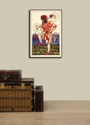 "20x30 Exposition Internacional Barcelona 1929/"" Vintage Style Travel Poster"