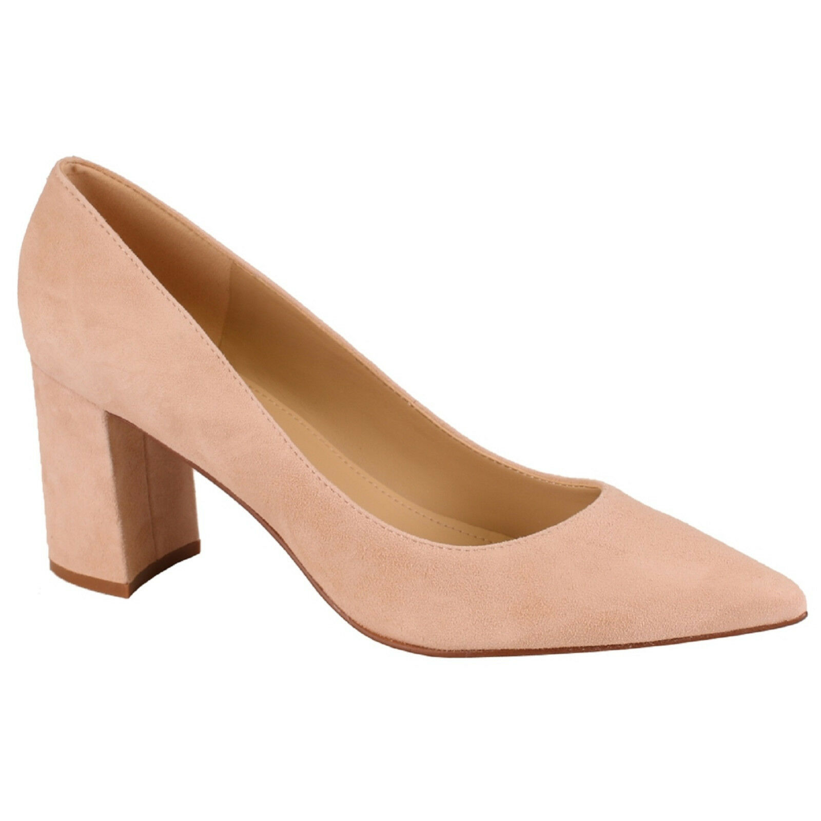 Women Marc Fisher Fisher Fisher CLAIRE Light Natural Slip-On Pointy-Toe Block Heel Pump shoes bfc874
