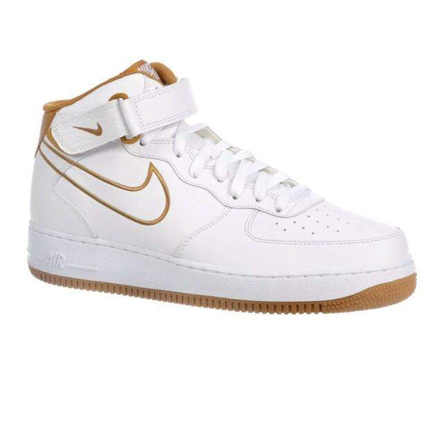 NIKE Air Force 1 Mid Mens AQ8650 101 WhiteGolden Bronze Shoes (Size 11.5)