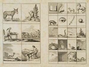 Chodowiecki (1726-1801). illustrazione latino genera; pressione grafico 1