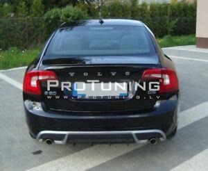 Pour-Volvo-S60-V60-pare-chocs-arriere-R-Design-Diffuseur-d-039-echappement-sur-les-deux-cotes