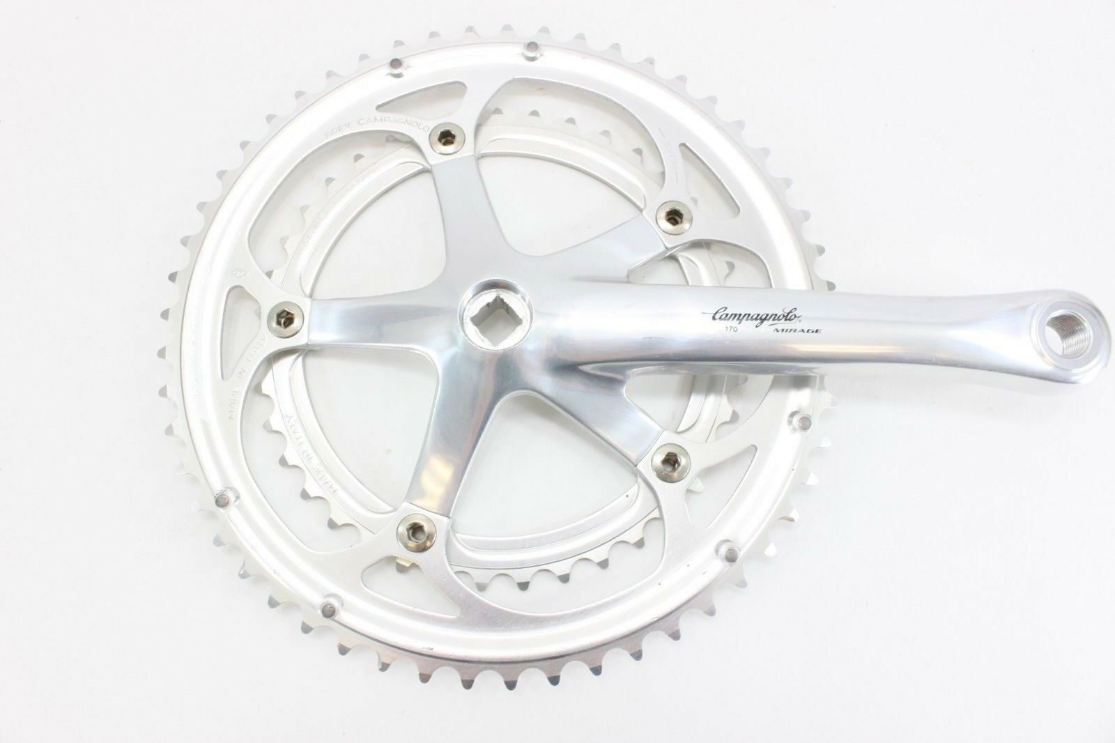 Campagnolo Mirage Double Drive Side 170mm Crank Arm w  Rings 53 39 BREV. NOS