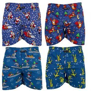 MG-1-Kinder-Webboxer-Boxershorts-Shorts-X-Mas-Weihnachten-Nikolaus-Santa-Jungen