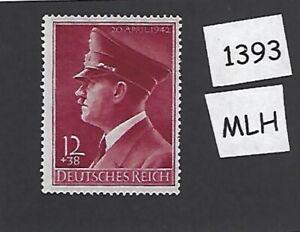1393-MLH-stamp-Adolph-Hitler-1942-Birthday-WWII-Germany-Third-Reich