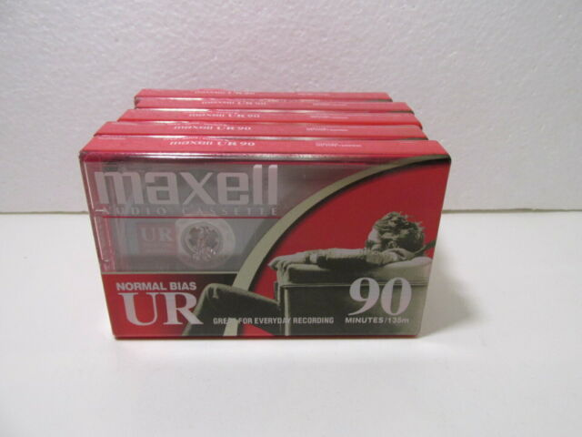 Maxell Ur 90 Minutos Normal Bias Blanco Audio Casete Cintas Set de 5 t5125