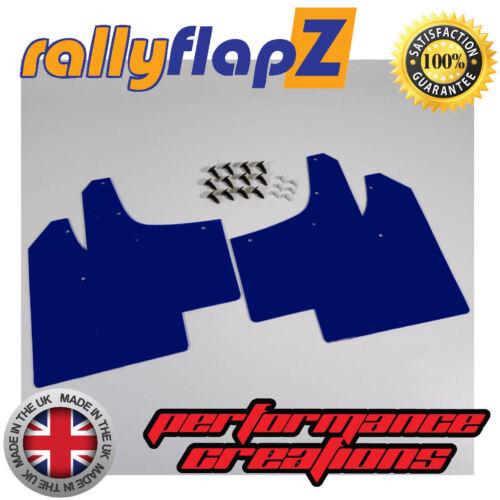 Mudflaps Renault Clio MK2 98-06 MUD FLAPS RallyflapZ Blue Llano 4 mm PVC
