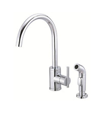 Danze D405112 Melrose Single Handle Deck Plate Style Kitchen Faucet with Side Spray Chrome