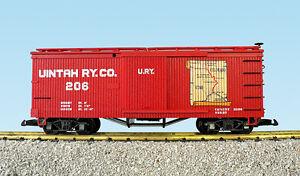 USA Trains G Scale 19027A-D Woodside Box Car Uintah Map Car CHOICE OF #'S