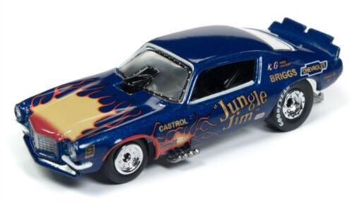 RR 1970 Chevrolet Camaro Jungle Jim Flames FUNNY CAR Racing Champions 1:64 Neuf dans sa boîte