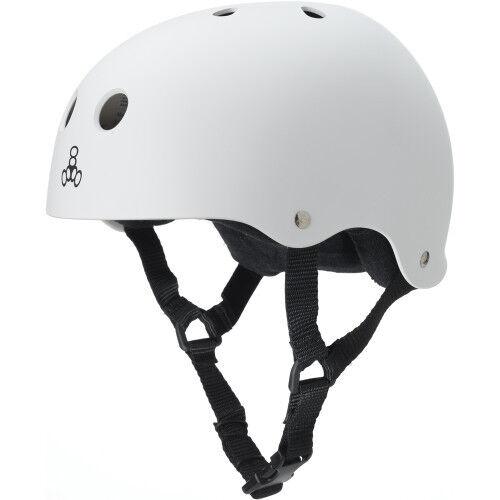 Triple 8 White  Rubber Helmet - Medium  designer online