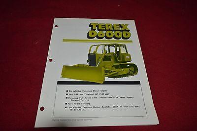 Terex D 600 D Crawler Tractor Dozer Dealers Brochure DCPA2
