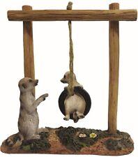 Gardenwize Meerkat Baby Meerkat Tyre Playground Gnome Garden Home Ornament Toy