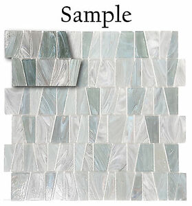 *SAMPLE Nickel Teal Textured Stained Glass Kitchen Bath Wall Mosaic Tile