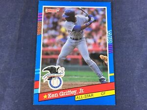 T3-57 BASEBALL CARD - KEN GRIFFEY JR. SEATTLE MARINERS - CARD #392 -1991 DONRUSS
