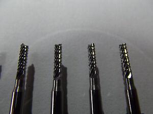 100-Stueck-VHM-Fraeser-Diamantverzaht-2-4-mm-Dremel-Proxxon-CNC