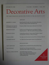 Studies in the Decorative Arts Vol. 1 No. 1 Fall 1993 Bard Graduate Center+
