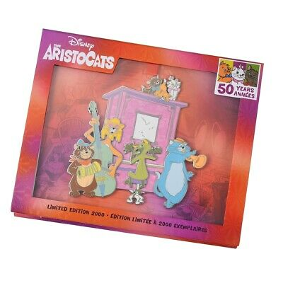Disney Parks The Aristocats 50th Anniversary Pin Set of 3 Pins LE