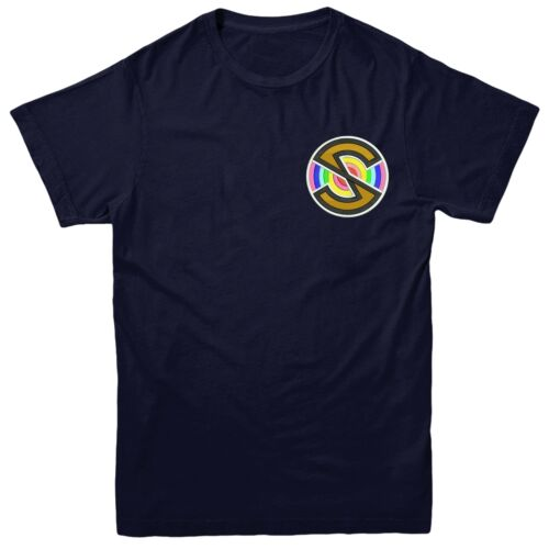 Superhero Series Inspired Embroidered Tee Top Captain Scarlet Spectrum T-shirt