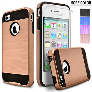 For-iPhone-4-4S-5-5S-SE-5C-Phone-Case-Shockproof-Cover-Tempered-Glass-Protector